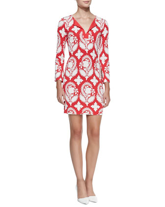 New Reina Two Printed Silk Dress