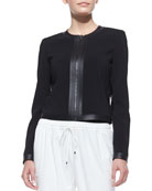 Ruby Classic Zip-Front Jacket, Black