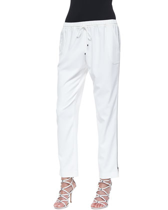 Loren Easy Drawstring Pants, Joey White