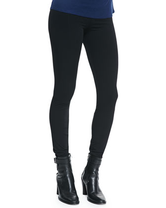 Twist-Neck Slub-Jersey Top & Reflex Full-Length Lightweight Leggings