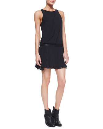 Vanessa Sleeveless Dress With Pleats