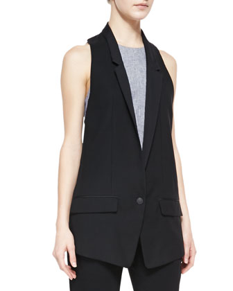 Ines Racerback Suiting Vest, Adeline Patterned Sleeveless Top & Park ...