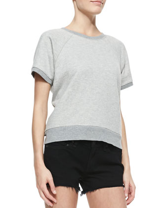 Rocky Short-Sleeve Knit Sweatshirt