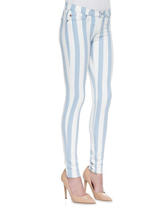 Krista Super Skinny Liberated Striped Jeans