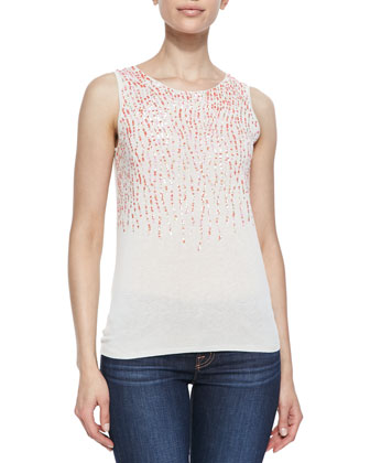 Silk/Cashmere Sequined Shell