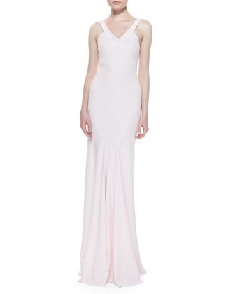V-Neck Fishtail Gown