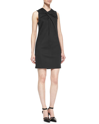 Lateral Twist-Top Jersey Dress
