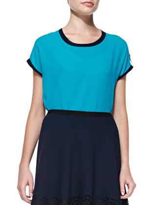 Rhea Short-Sleeve Blouse