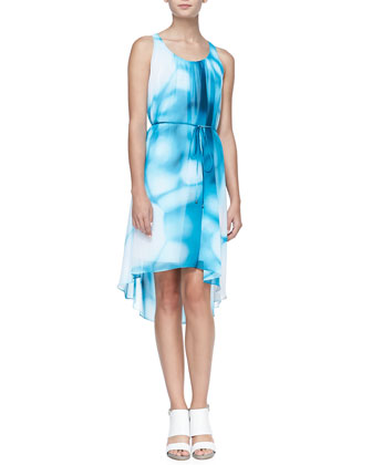 Everleigh Printed High-Low Dress