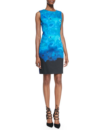Dakota Sleeve Sky-Print Dress