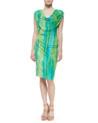 Taal Lake Dress Jersey Dress, Blue