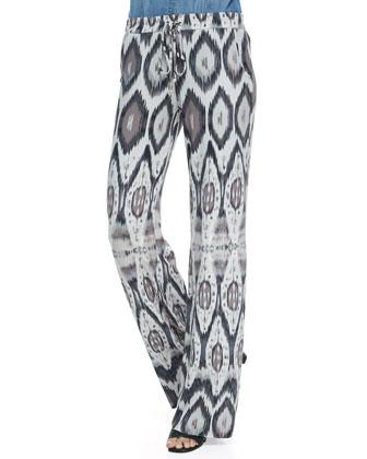 Pembroke Ikat-Print Drawstring Pants