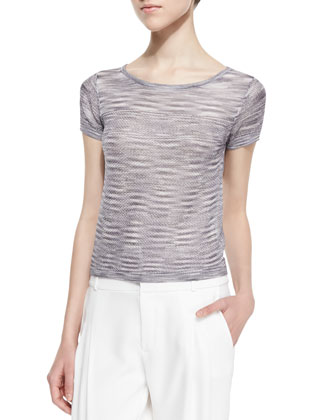 Odette Chain Knit Pullover, Dove Gray