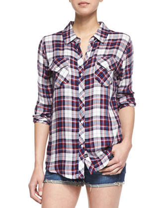 Carmen Plaid Pocket Shirt