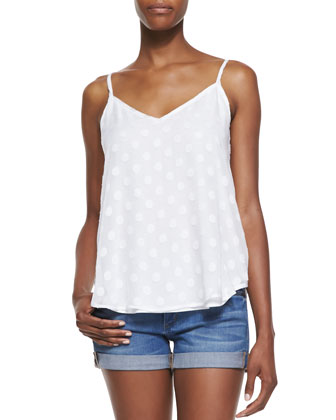Sabine Sleeveless Dot Top