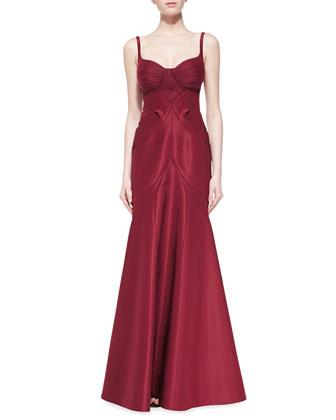 Silk Faille Sleeveless Gown