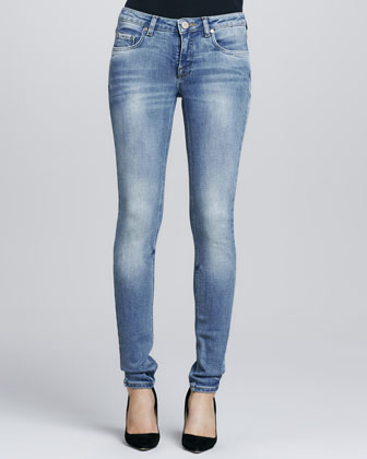 Faded Blue Superskinny Jeans