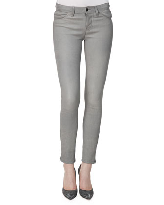 L8001 Leather Leggings, Gray Rock