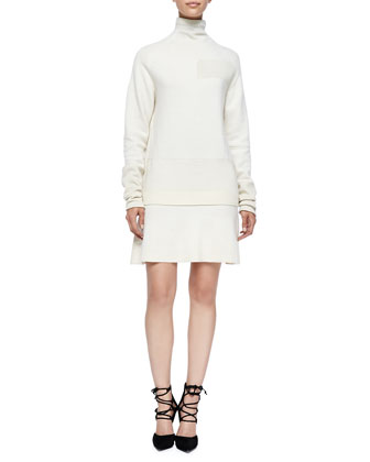 Wool Patchwork Dress, Aran