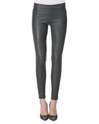 Lambskin Leggings, Gray