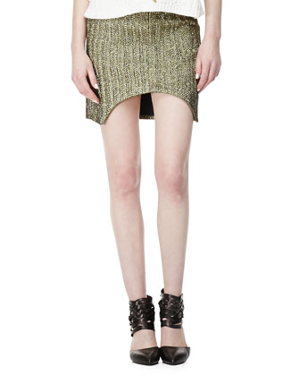 March To Victory Metallic Skirt