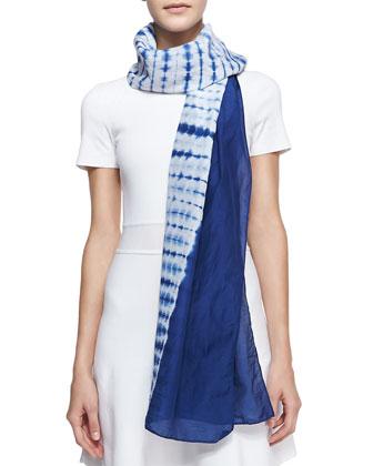 Silk Tie-Dye Scarf