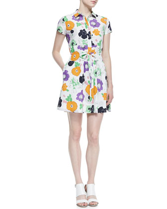 Darla Drawstring Floral Print Dress