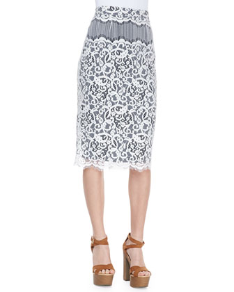 Cecelia Lace Pencil Skirt
