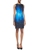Holly Sleeveless Digital-Print Dress