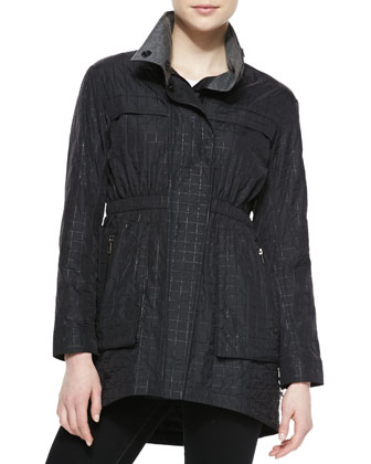Quilted Anorak Jacket, Black
