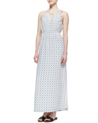 Amaretta Printed Silk Maxi Dress