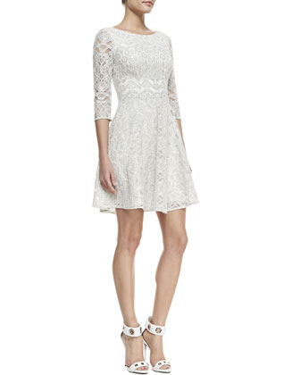 Eliana Lace 3/4-Sleeve Dress