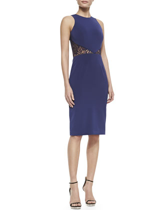 Nina Lace-Inset Sheath Dress