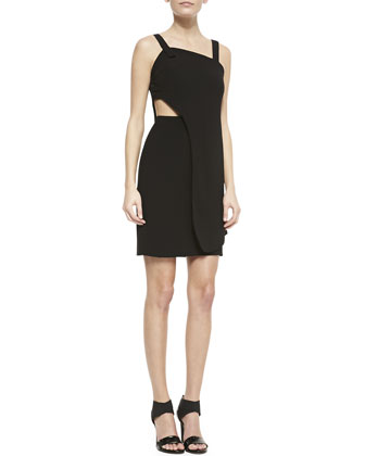 Theroux Two-Layer Cutout Sleeveless Dress