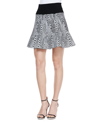Techno Tubular Jacquard Skirt