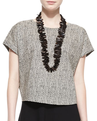 Bandini-Print Short-Sleeve Top