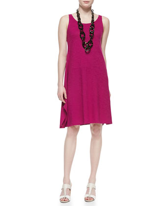 Organic Cotton Hemp Twist Sleeveless Dress, Petite