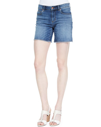 Mandarin Collar Organic Cotton Tunic & Organic Cotton Stretch Denim Shorts