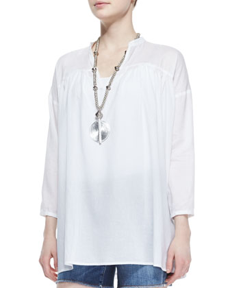 Mandarin Collar Organic Cotton Tunic