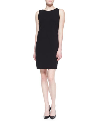 Color Block Sleeveless Round-Neck Sheath Dress
