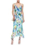 Cellophane Print Maxi Dress