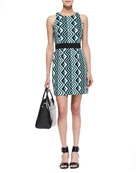 Ana Geo-Print Sheath Dress