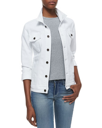 Trust White Denim Jacket