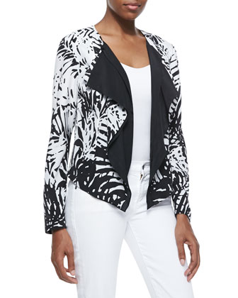Tropical Printed Cascade Jacket