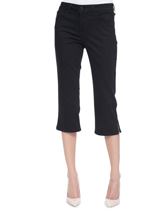 Hayden Cropped Side-Slit Pants, Petite