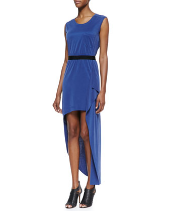 Evelyn Draped High-Low Dress