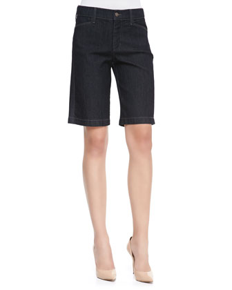 Arya Relaxed Denim Shorts, Dark Enzyme
