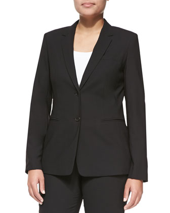 Bulca Two-Button Blazer, Black