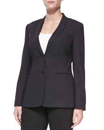 Bulca Two-Button Blazer, Navy