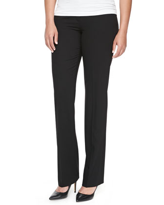 Tulsa Straight-Leg Pants, Black